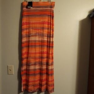 A.N.A. Striped Maxi Skirt NWT